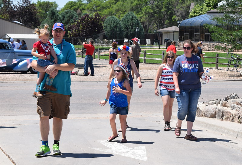 Heritage Festival-goers decked out in red, white and blue
