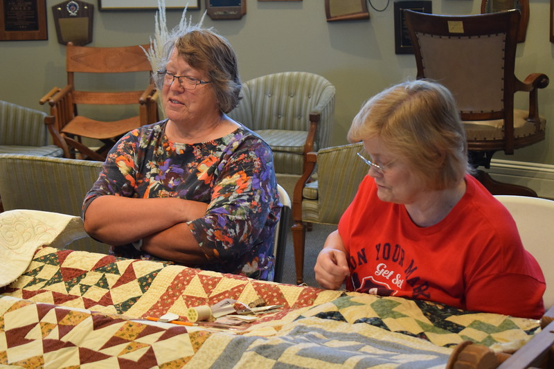 Hand-quilting demonstration by Connie Chambers, left, and Dorothy Schreyer at the 2017 Heritage Festival