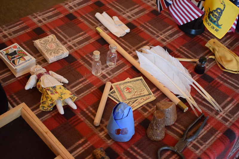 Items on display for the Sons of the American Revolution Patriot's Chest presentation during the Heritage Festival July 4, 2017.