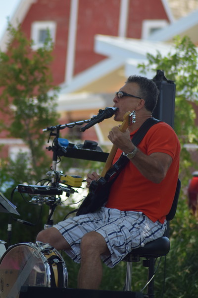 Dennis Fuller of Exit 125 performing on the Heidi Park stage during the 2017 Heritage Festival