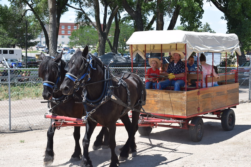 Gentle Giants provided wagon rides to Heritage Festival-goers.