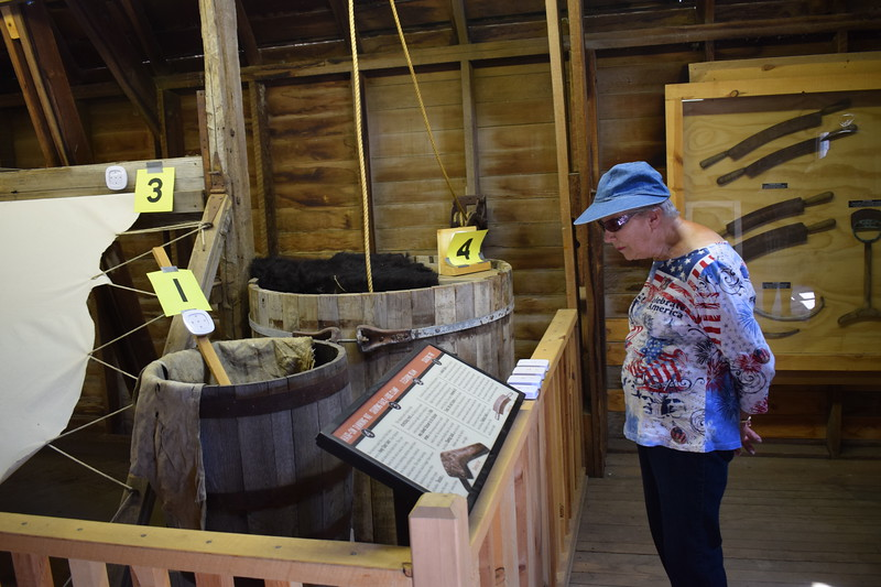 The Lawry Tannery exhibit featured new signage and other elements for the Heritage Festival-goers to enjoy.