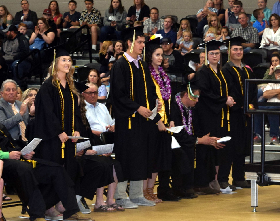 . Graduates earning a 3.75 and above cumulative grade point average are recognized at Caliche High School\'s Commencement Ceremony Saturday, May 25, 2019.