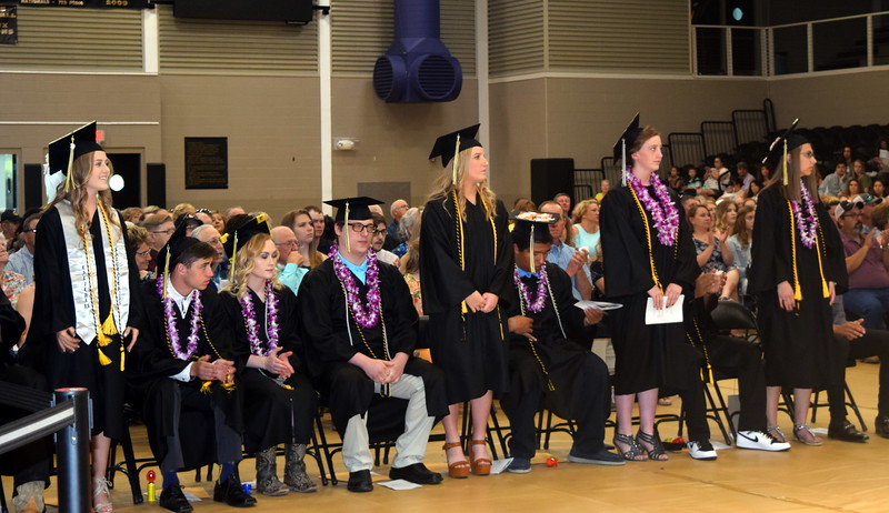 Graduates earning a 3.75 and above cumulative grade point average are recognized at Caliche High School's Commencement Ceremony Saturday, May 25, 2019.