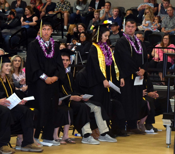 Band and digital media students are recognized at Caliche High School's Commencement Ceremony Saturday, May 25, 2019.