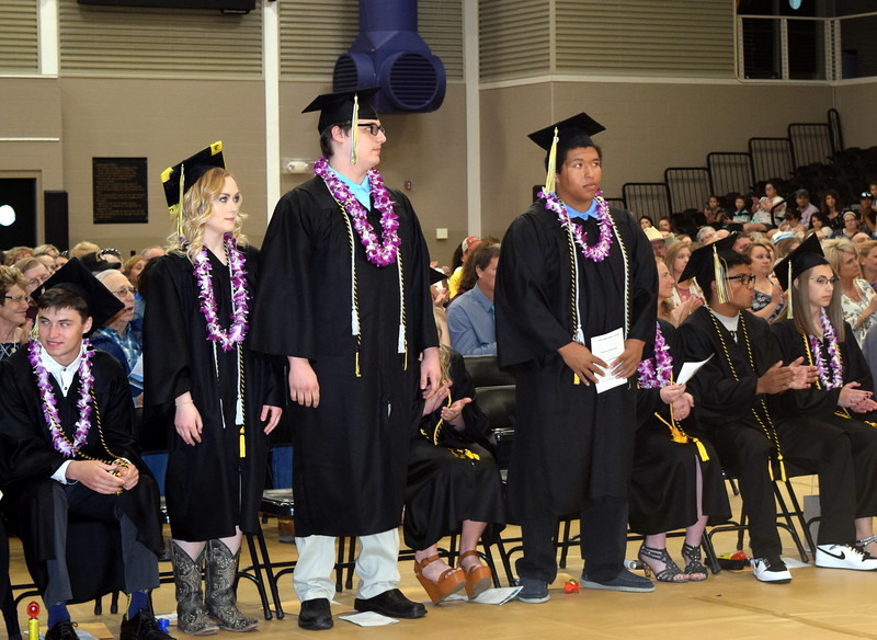 Graduates earning between a 3.33 and 3.75 cumulative grade point average are recognized at Caliche High School's Commencement Ceremony Saturday, May 25, 2019.