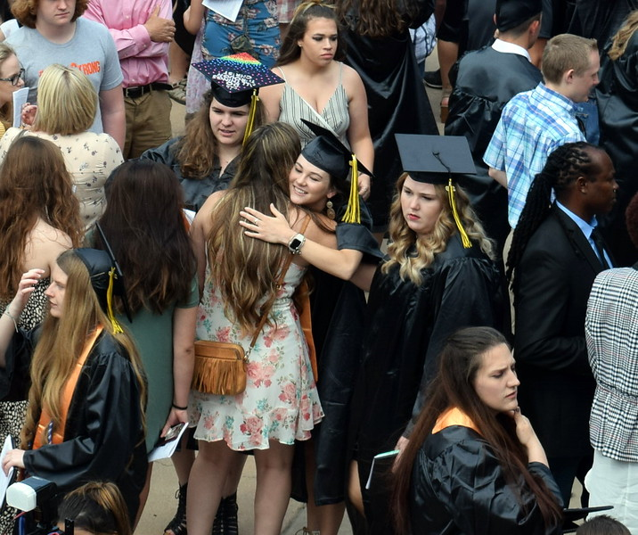 Graduates celebrate following Northeastern Junior College's Commencement Ceremony Friday, May 17, 2019.