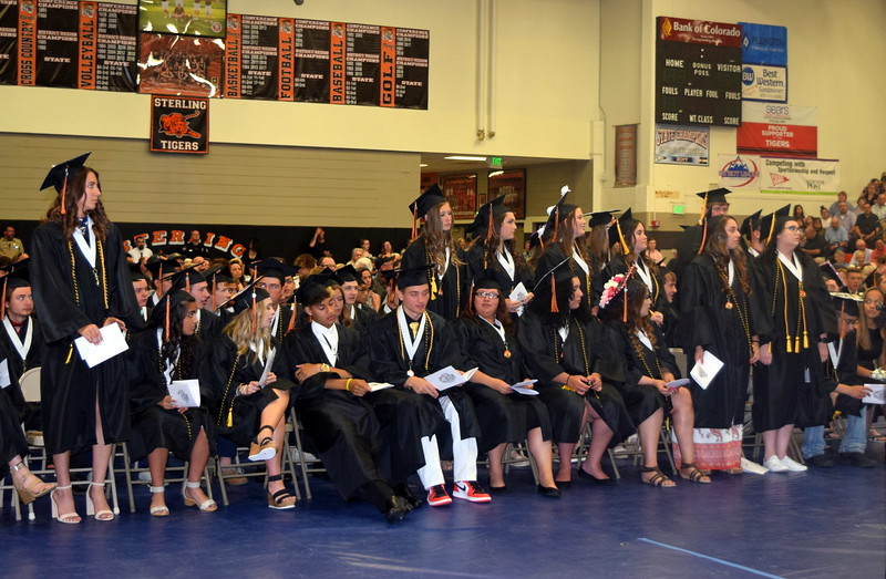 Graduates earning honors certification are recognized at Sterling High School's Commencement Ceremony Saturday, May 25, 2019.