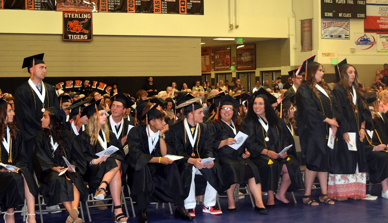 Graduates earning a 3.50 or better grade point average are recognized at Sterling High School's Commencement Ceremony Saturday, May 25, 2019.