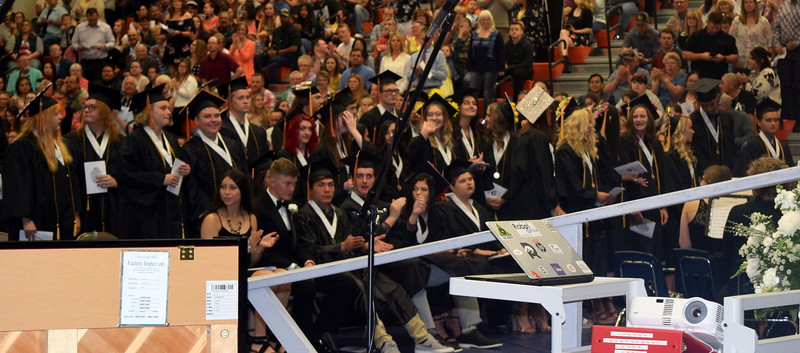 Graduates who took at least one Northeastern Junior College course are recognized at Sterling High School's Commencement Ceremony Saturday, May 25, 2019.