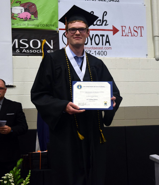 . Sterling High School graduate Jace Pittman was recognized for his appointment to the U.S. Air Force Academy during Sterling High School\'s Commencement Ceremony Saturday, May 25, 2019.