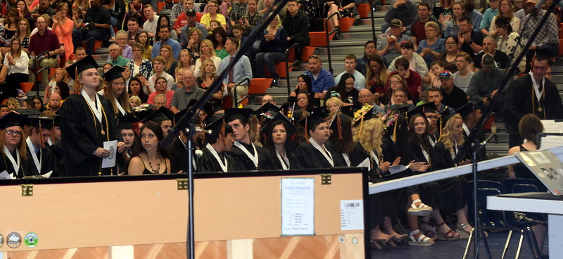 Graduates earning a 3.75 or above grade point average are recognized at Sterling High School's Commencement Ceremony Saturday, May 25, 2019.