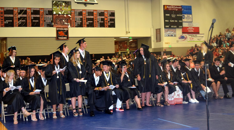 Graduates earning a 3.33 or above grade point average are recognized at Sterling High School's Commencement Ceremony Saturday, May 25, 2019.