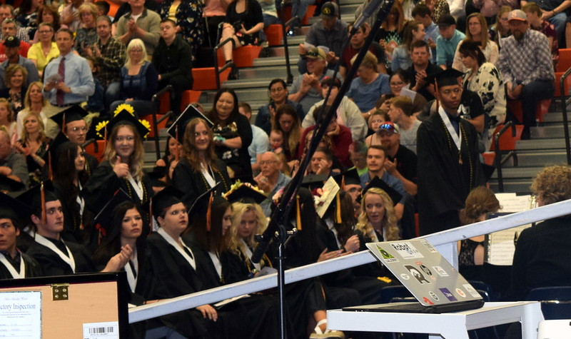 Graduates earning a 3.33 or better grade point average are recognized at Sterling High School's Commencement Ceremony Saturday, May 25, 2019.