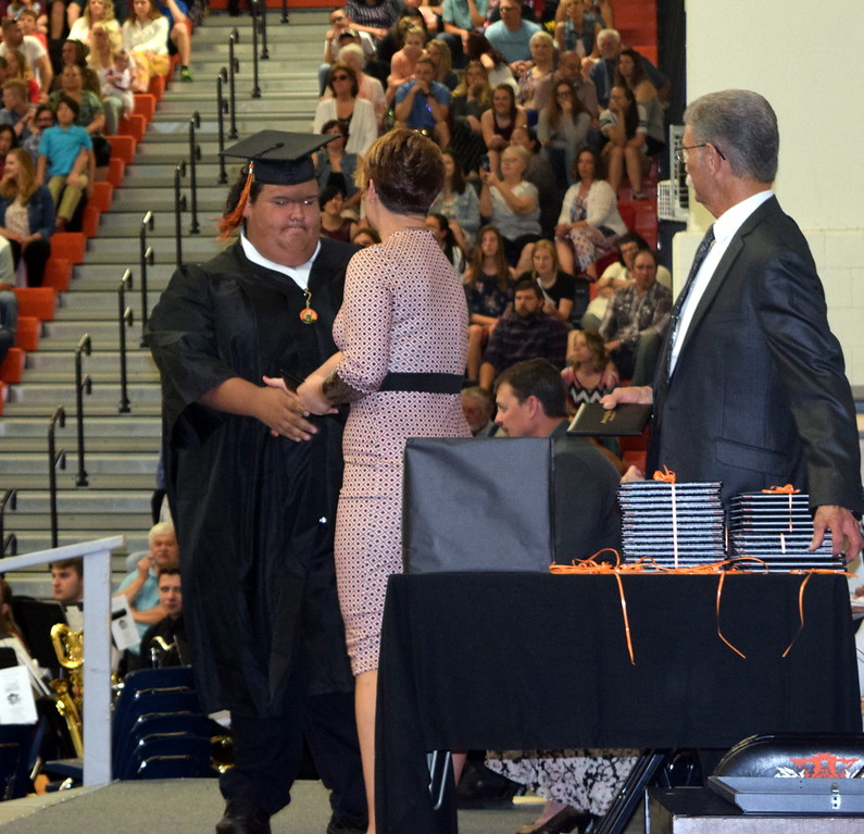 . Rodney Lambert receives his diploma at Sterling High School\'s Commencement Ceremony Saturday, May 25, 2019.