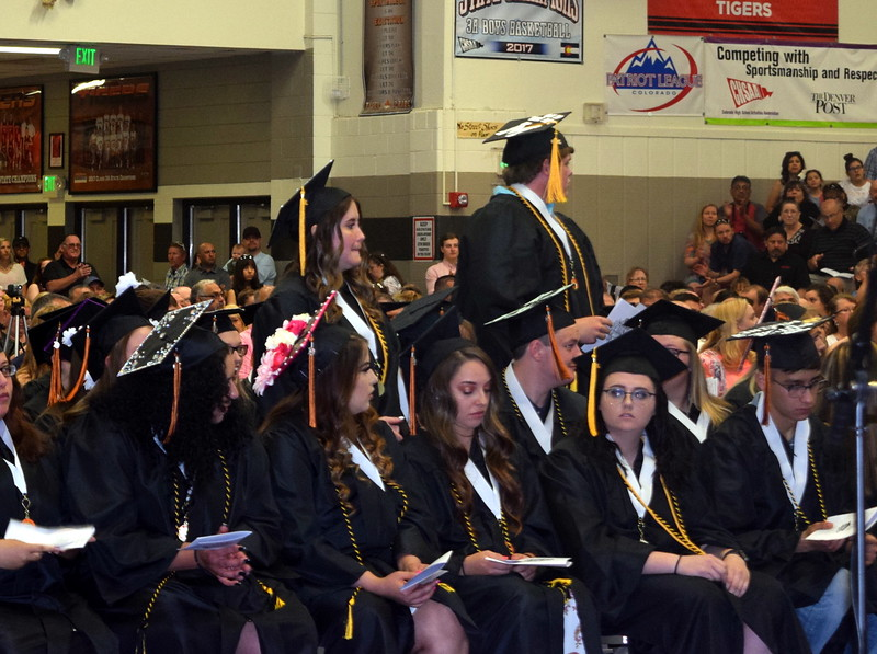 Graduates earning a 3.90 or better grade point average are recognized at Sterling High School's Commencement Ceremony Saturday, May 25, 2019.