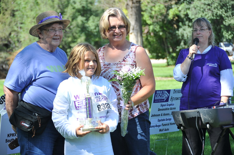 The Devonshire team placed second among the top team fundraisers at the Walk to End Alzheimer's Saturday, Aug. 24, 2013, at Columbine Park.