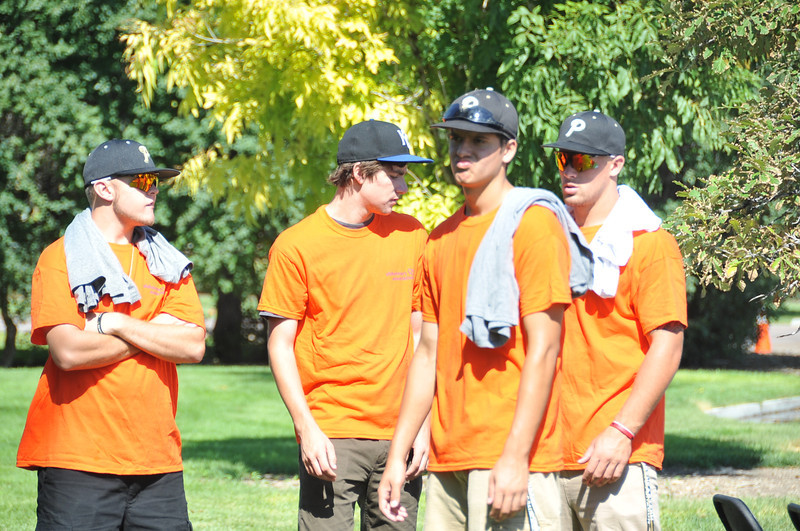 The NJC baseball team volunteered with set up and tear down at the Walk to End Alzheimer's Saturday, Aug. 24, 2013, at Columbine Park.