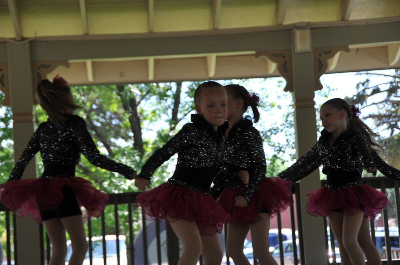 Dance students from Durante's Dance Studio provided some afternoon entertainment for the 2015 Relay For Life of Logan County.