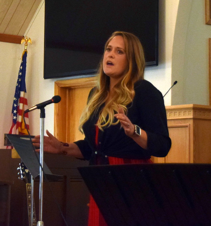 """. Jula Bornhoft gives a vocal performance of \""""You Say\"""" during a Recital of the Harmoic Horizons Conservatory and Studio of Darla Korrey Sunday, April 28, 2019."""