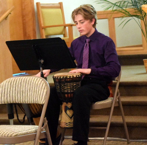 Bredon Ransdell performs with the Harmonic Horizons Conservatory and Friends during a Recital of the Harmoic Horizons Conservatory and Studio of Darla Korrey Sunday, April 28, 2019.