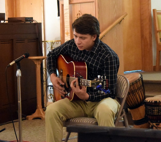 """Alex Norell performs """"By Grace Alone"""" during a Recital of the Harmoic Horizons Conservatory and Studio of Darla Korrey Sunday, April 28, 2019."""