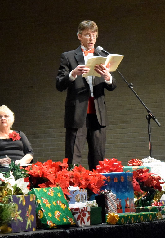 """. Baritone soloist Mike Kiser sings during a performance of \""""Blessed, Blessed Is He Who Cometh\"""" at Master Chorale\'s \""""27th Noel\"""" Christmas Concert Sunday, Dec. 9, 2018."""
