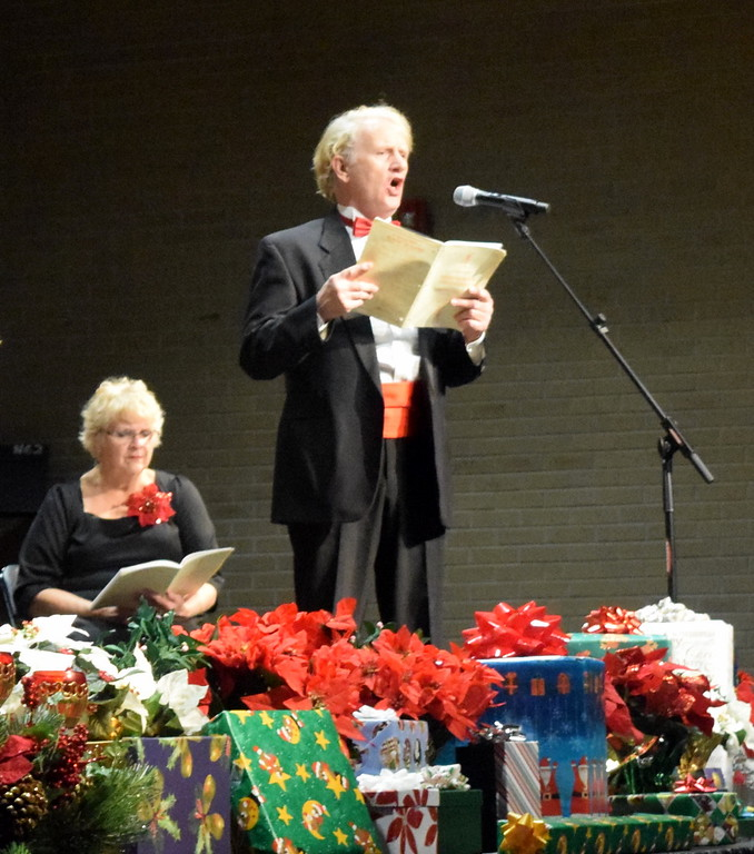 """. Tenor soloist Jerry Skaggs sings during a performance of \""""In My Heart I Believe\"""" at Master Chorale\'s \""""27th Noel\"""" Christmas Concert Sunday, Dec. 9, 2018."""