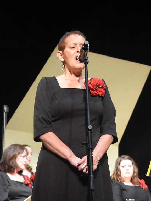 """. Soprano soloist Chris Penner sings during a performance of \""""Patiently Have I Waited For the Lord\"""" at Master Chorale\'s \""""27th Noel\"""" Christmas Concert Sunday, Dec. 9, 2018."""