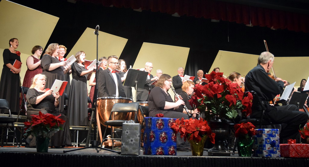 """. The Master Chorale performs \""""O Come, All Ye Faithful,\"""" under the direction of Don Johnson, during its \""""27th Noel\"""" concert Sunday, Dec. 9, 2018."""