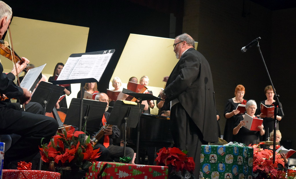 """. The Master Chorale performs \""""O Come, All Ye Faithful\"""" during its \""""27th Noel\"""" Christmas Concert Sunday, Dec. 9, 2018."""