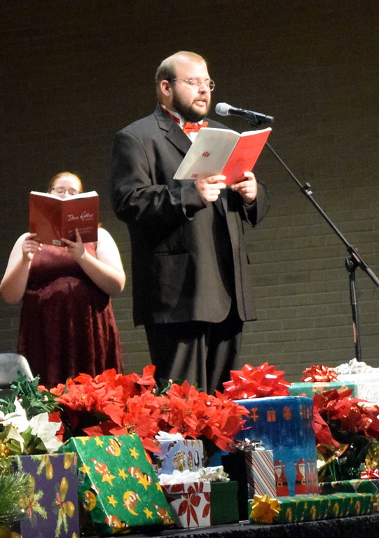 """. Tenor soloist Jacob Reyes sings during a performance of \""""Three Kings of Orient\"""" at Master Chorale\'s \""""27th Noel\"""" Christmas Concert Sunday, Dec. 9, 2018."""
