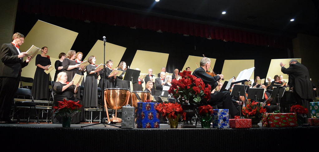 """. The Master Chorale performs \""""Glory Be Unto God\"""" during its \""""27th Noel\"""" Christmas Concert Sunday, Dec. 9, 2018."""