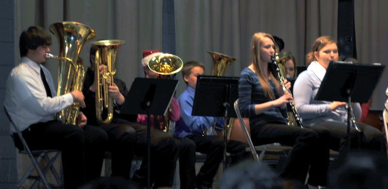 "Peetz Junior High/High School band members perform ""Magnificent Christmas,"" during the Peetz K-12 Winter Concert, Thursday, Dec. 19, 2013."