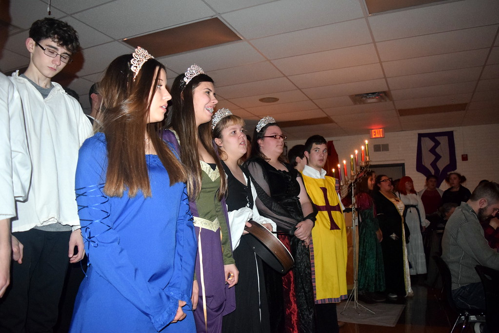 ". The Sterling High School Concert Choir performs ""Deck the Hall\"" during the school\'s Madrigal Dinner Monday, Dec. 3, 2018."