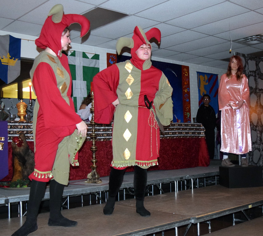 ". Sterling High School theater students give a performace of ""Night, Night, Knight\"" during the school\'s Madrigal Dinner Monday, Dec. 3, 2018."