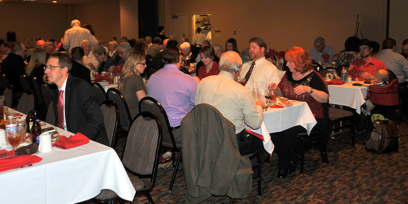 Guests enjoy their meal at the Logan County Republicans Lincoln Day Dinner, Saturday, Feb. 15, 2014.