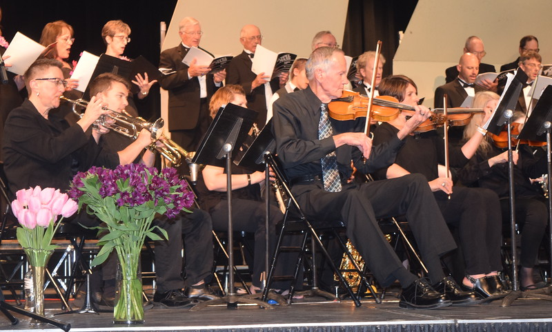 """The sinfonia plays during the Master Chorale's performance of """"Lord Have Mercy,"""" part of the """"Gospel Mass"""" at the chorale's 28th annual Spring Concert Sunday, May 5, 2019."""
