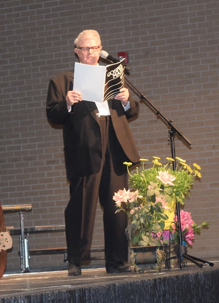 """Jerry Applegate sings a solo during Master Chorale's performance of """"Holy Lord of Ghosts,"""" part of """"Gospel Mass,"""" at the chorale's 28th annual Spring Concert Sunday, May 5, 2019."""