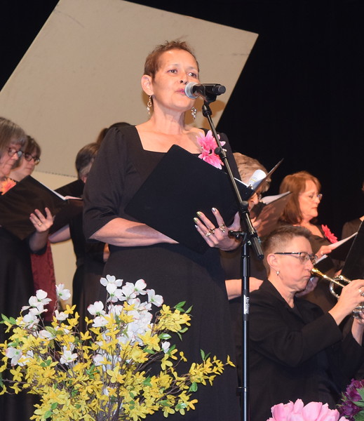 """Chris Penner sings a solo during Master Chorale's performance of """"Got to Get You Into My Life"""" at the chorale's 28th annual Spring Concert Sunday, May 5, 2019."""
