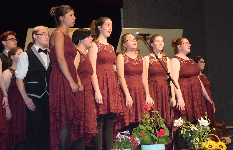 "Members of the Sterling High School Jazz Choir perform ""Seasons of Love,"" under the direction of Annette Lambrecht, at Master Chorale's 28th annual Spring Concert Sunday, May 5, 2019."