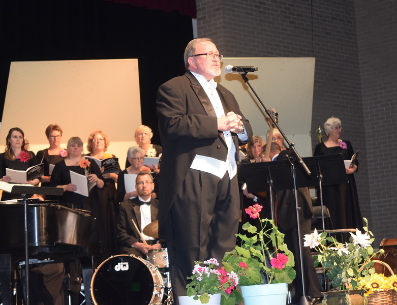 Director Don Johnson welcomes guests to Master Chorale's 28th annual Spring Concert Sunday, May 5, 2019.