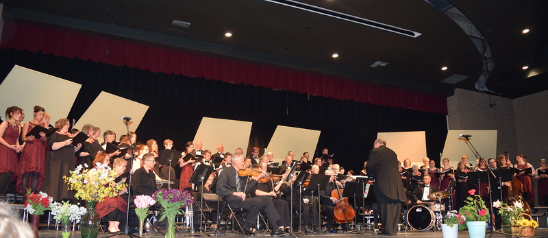 """Master Chorale, joined by Sterling High School Jazz Choir, performs """"Colorado Pride,"""" under the direction of Don Johnson, at the chorale's 28th annual Spring Concert Sunday, May 5, 2019."""