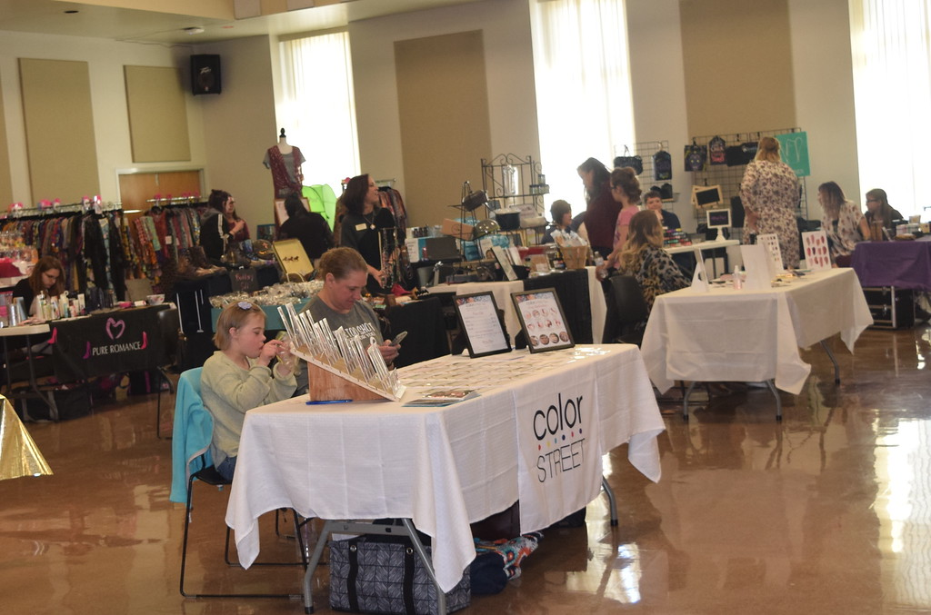. A number of vendors were setup for guests to browse during Northeastern Junior College Cosmetology\'s Masquerade Fashion Show Fundraiser Saturday, March 9, 2019.