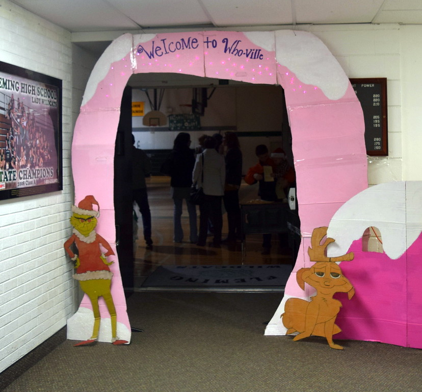 Guests who attended Fleming Elementary's Holiday Concert and Reader's Theatre, Thursday, Dec. 15, 2016, were invited to enter Whoville for the show.