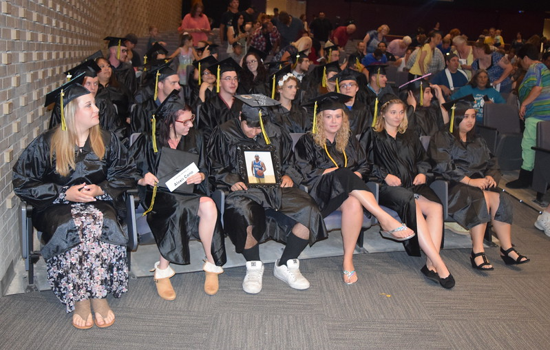 Pictured are the 2017 graduates of Northeastern Junior College's Adult Basic Education program Saturday, June 17, 2017. There 25 graduates recognized at the graduation ceremony, the program has witnessed 39 students earn their GED so far this year.