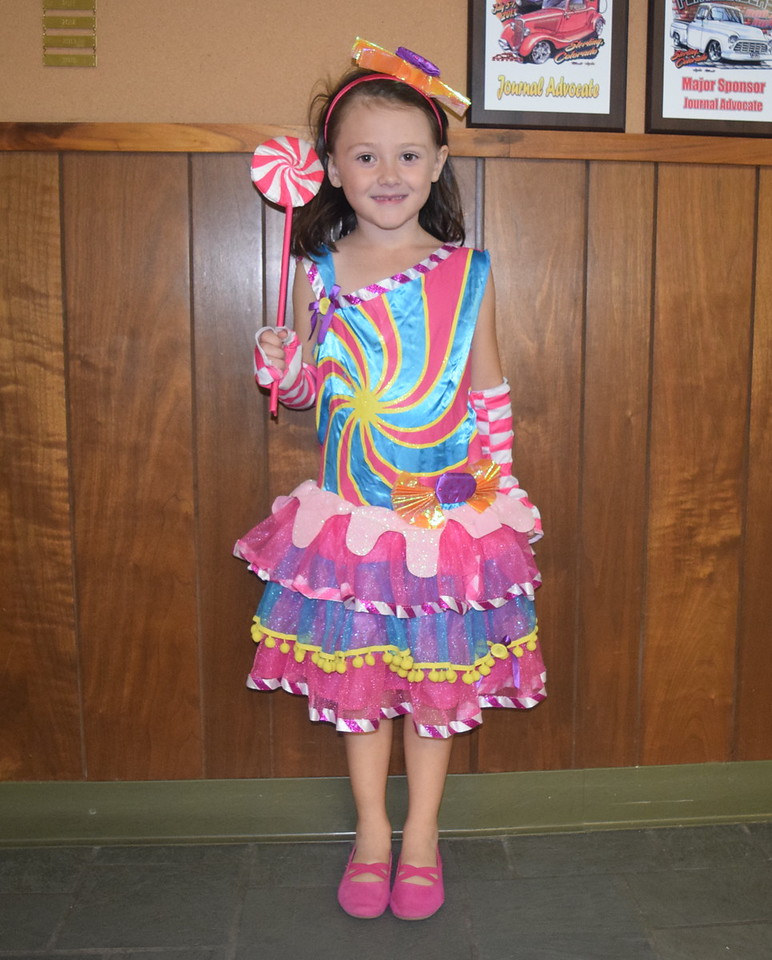Casey Howard, age 5, dressed as a candy princess, was looking to satisfy her sweet tooth when she visited the Journal-Advocate for a Halloween treat Monday, Oct. 31, 2016.