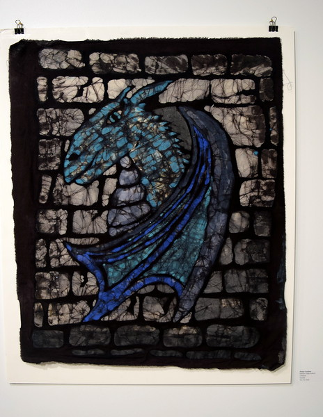 A textile dragon created by Paige Gordon of Merino High School was among the pieces on display at Northeastern Junior College's annual High Plains Secondary School Art Exhibit held in April.
