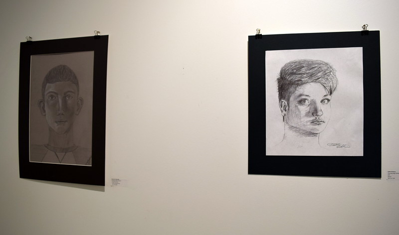 Drawings created by Fleming High School students were among the artwork on display at Northeastern Junior College's annual High Plains Secondary School Art Exhibit held in April.
