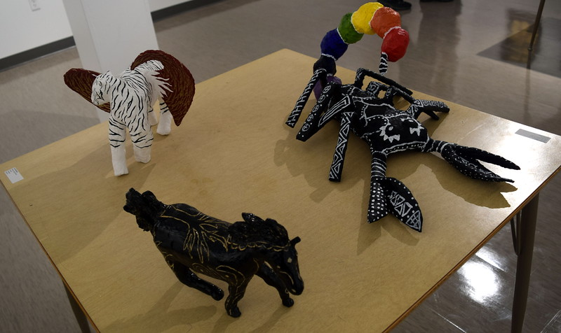 A variety of ceramic pieces created by area high school students was on display at Northeastern Junior College's annual High Plains Secondary School Art Exhibit held in April.